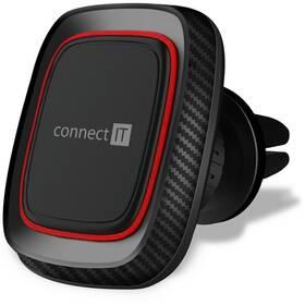 Držák na mobil Connect IT InCarz 4Strong360 Carbon, magnetický, do mřížky (CMC-4045-RD) černý/červený