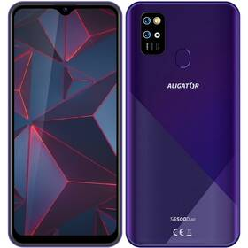 Mobilní telefon Aligator S6500 - ZÁNOVNÍ - 12 měsíců záruka fialový