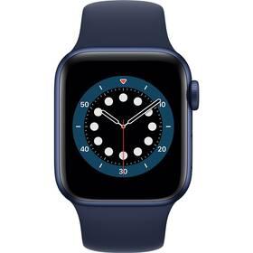 Chytré hodinky Apple Watch Series 6 GPS 44mm pouzdro z modrého hliníku - námořnicky tmavomodrý sportovní náramek (M00J3HC/A)