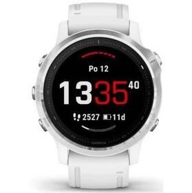 GPS hodinky Garmin fenix6S Glass - ZÁNOVNÍ - 12 měsíců záruka stříbrné/bílé