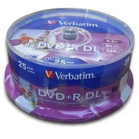 Disk Verbatim DVD+R DualLayer, 8,5GB, 8x, printable, 25cake (43667)