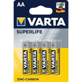 Baterie zinkouhlíková Varta Superlife AA, R06, blistr 4ks (2006101414)