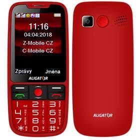 Mobilní telefon Aligator A890 Senior (A890RD) červený