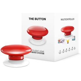Tlačítko Fibaro Button, Z-Wave Plus (FIB-FGPB-103-ZW5) červené