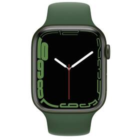 Chytré hodinky Apple Watch Series 7 GPS, 41mm pouzdro ze zeleného hliníku - jetelově zelený sportovní řemínek (MKN03HC/A)