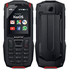Mobilní telefon Aligator K50 eXtremo (AK50BR) černý/červený