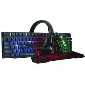 Klávesnice s myší Marvo CM370 + headset a podložka pod myš, CZ/SK (CM370 CZ/SK) černá