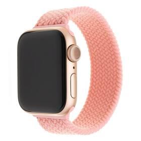 Řemínek FIXED Nylon Strap na Apple Watch 38/40/41 mm, velikost S (FIXENST-436-S-PI) růžový