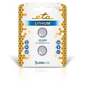 Baterie lithiová ETA PREMIUM CR2032, blistr 2ks (CR2032LITH2)