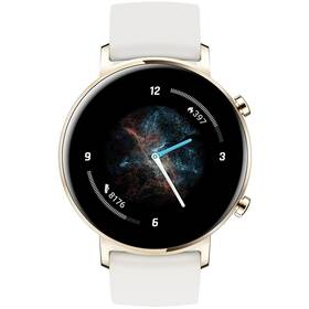 Chytré hodinky Huawei Watch GT 2 (42 mm) - ZÁNOVNÍ - 12 měsíců záruka bílé
