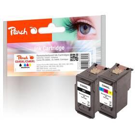 Inkoustová náplň Peach Canon PG-545XL/CL-546XL, 510/425 stran, kompatibilní, CMYK (319026)