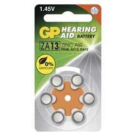 Baterie do naslouchadel GP ZA13, blistr 6ks (B3513)