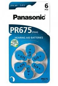 Baterie do naslouchadel Panasonic PR675, blistr 6ks (PR-675(44)/6LB)