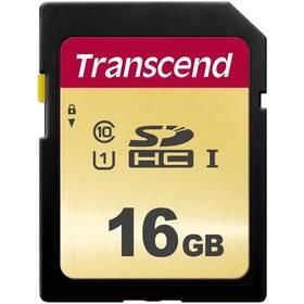 Paměťová karta Transcend 500S SDHC 16GB UHS-I U1 (Class 10) (95R/60W) (TS16GSDC500S)