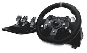 Volant Logitech G920 pro Xbox One, One X, One S, PC + pedály (941-000123) černý