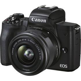 Digitální fotoaparát Canon EOS M50 Mark II + EF-M 15-45 + SB130 + 16GB (4728C056) černý