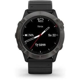 GPS hodinky Garmin fenix6X PRO Sapphire (MAP/Music) (010-02157-11) černé/šedé
