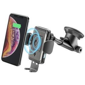 Držák na mobil CellularLine Pilot Instant, bezdrátové nabíjení (PILOTINSTWIRK) černý