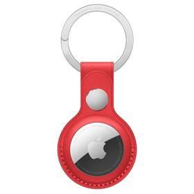 Apple AirTag kožená klíčenka - (PRODUCT)RED