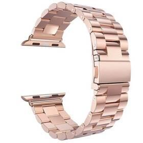 Řemínek WG na Apple Watch, kovový pletený  + adapter 42/44/45 mm (9153) růžový