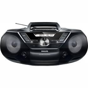 Radiomagnetofon s CD Philips AZ787 černý