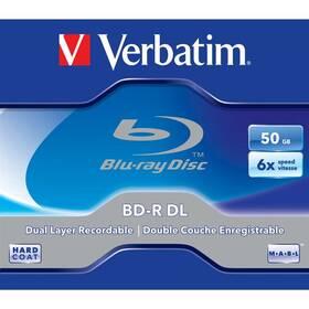 Disk Verbatim BD-R DL 50GB, 6x, jewel, 1ks (43748)