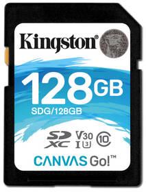 Paměťová karta Kingston Canvas Go! SDXC 128GB UHS-I U3 (90R/45W) (SDG/128GB)
