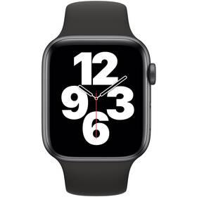 Chytré hodinky Apple Watch SE GPS 44mm pouzdro z vesmírně šedého hliníku - černý sportovní náramek (MYDT2HC/A)