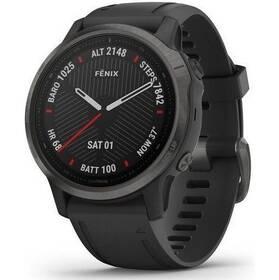 GPS hodinky Garmin fenix6S PRO Sapphire (MAP/Music) (010-02159-25) černé/šedé