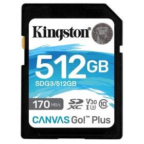Paměťová karta Kingston Canvas Go! Plus SDXC 512GB UHS-I U3 (170R/90W) (SDG3/512GB)