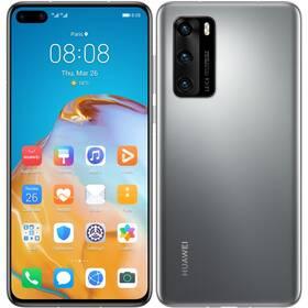 Mobilní telefon Huawei P40 (HMS) 5G - ZÁNOVNÍ - 12 měsíců záruka šedý