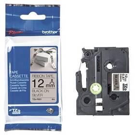 Papírový štítek Brother TZE-R931 černá na stříbrné, 12 mm (TZER931)