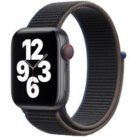 Chytré hodinky Apple Watch SE GPS + Cellular, 44mm pouzdro z vesmírně šedého hliníku - uhlový provlékací sportovní řemínek (MYF12HC/A)