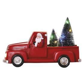 LED dekorace EMOS Santa v autě s vánočními stromky, 10 cm, 3x AA, vnitřní, multicolor (DCLW09)