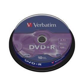 Disk Verbatim DVD+R 4,7GB, 16x, 10cake (43498)