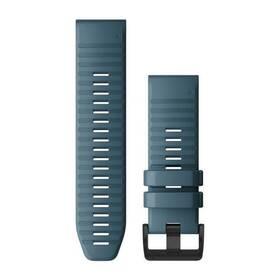 Řemínek Garmin QuickFit 26mm pro Fenix5X/6X, silikonový, modrý, černá přezka (010-12864-03)