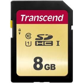 Paměťová karta Transcend 500S SDHC 8GB UHS-I U1 (Class 10) (95R/60W) (TS8GSDC500S)