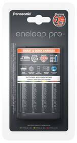 Nabíječka Panasonic Eneloop Smart-Quick Charger pro AA,AAA + 4x AA Panasonic Eneloop Pro 2500mAh (K-KJ55HCD40E) černá