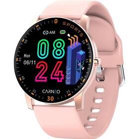 Chytré hodinky Carneo Gear+ platinum woman (8588007861159) růžová