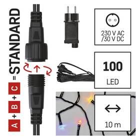 Spojovací řetěz EMOS 100 LED Základní sada pro spojovací řetězy Standard, 10 m, venkovní, multicolor, časovač (D1AM01)