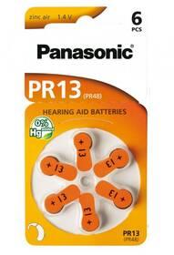 Baterie do naslouchadel Panasonic PR13, blistr 6ks (PR-13(48)/6LB)