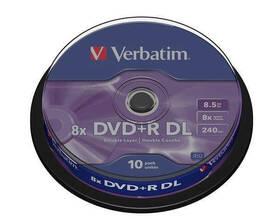 Disk Verbatim DVD+R DualLayer, 8.5GB, 8x, 10cake (43666)