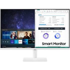 Monitor Samsung Smart Monitor M5 (LS27AM501NUXEN) bílý