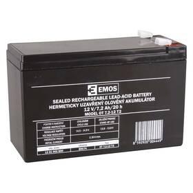 Olověný akumulátor EMOS bezúdržbový 12 V/7,2 Ah, faston 6,3 mm (B9674)