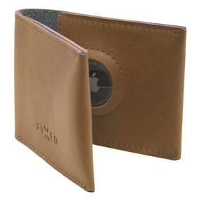 Peněženka FIXED Wallet pro AirTag z pravé hovězí kůže (FIXWAT-SMMW2-BRW) hnědá