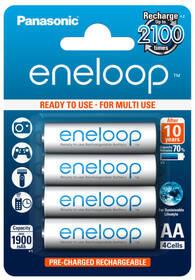 Baterie nabíjecí Panasonic Eneloop AA, HR06, 1900mAh, Ni-MH, blistr 4ks (BK-3MCCE/4BE)