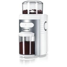 Kávomlýnek Severin KM 3873 stříbrný/bílý