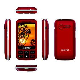 Mobilní telefon Aligator VS 900 Senior Dual SIM (AVS900RS) stříbrný/červený