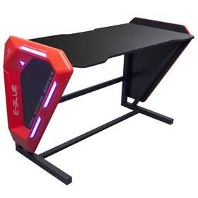 Herní stůl E-Blue 125x62 cm, podsvícený (EGT002BKAA-IA) černý/červený