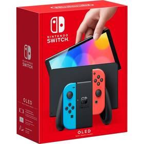 Herní konzole Nintendo SWITCH - OLED Model (Neon red & Blue set) (NSH007)